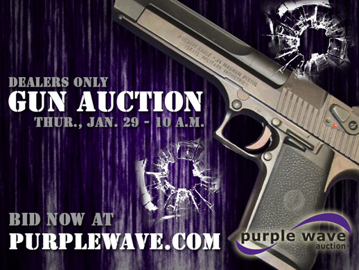Upcoming gun auction flier